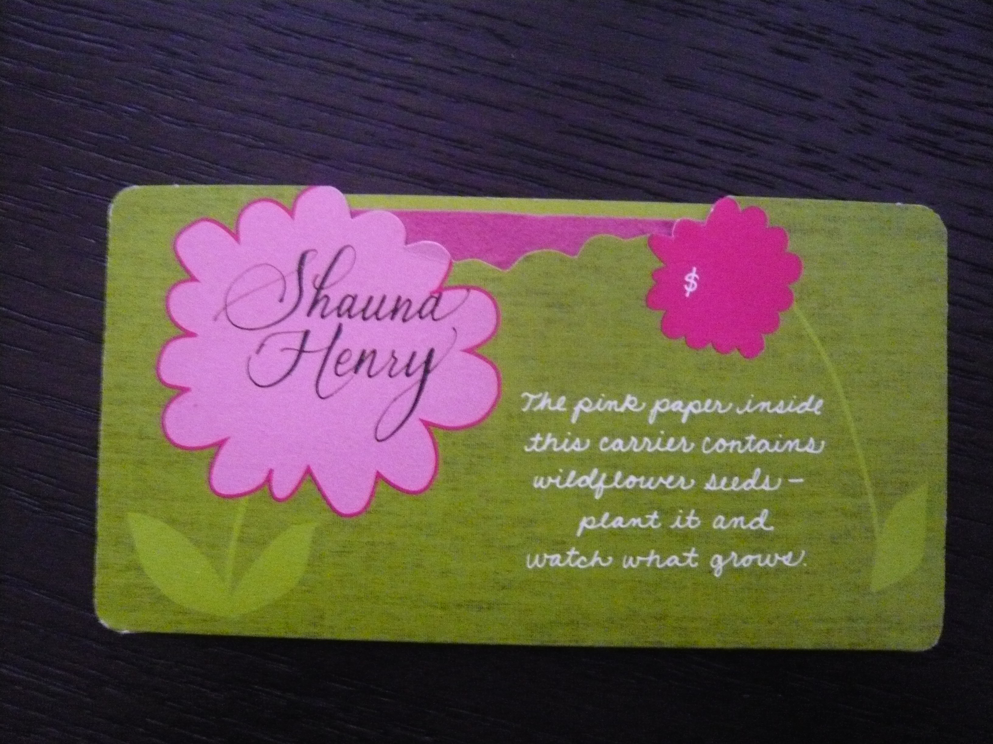 Escort Card, Place Card
